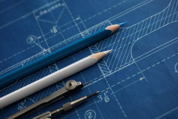 blueprint close up