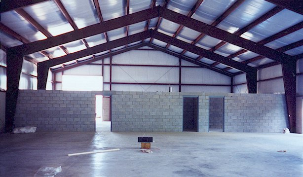 ACi Construction Specialty Building Project- Inside Warehouse