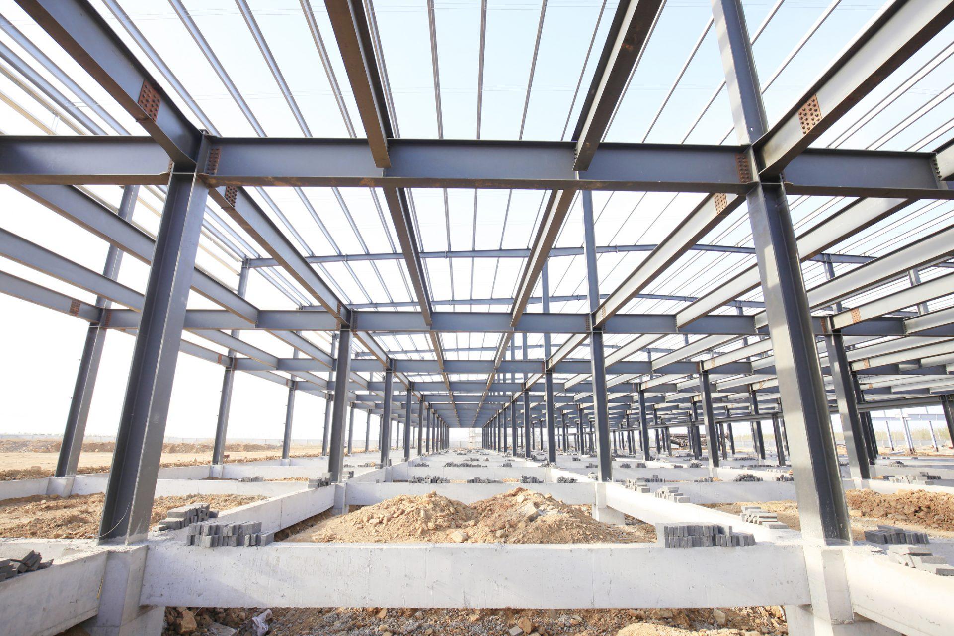 pre-fab steel framing