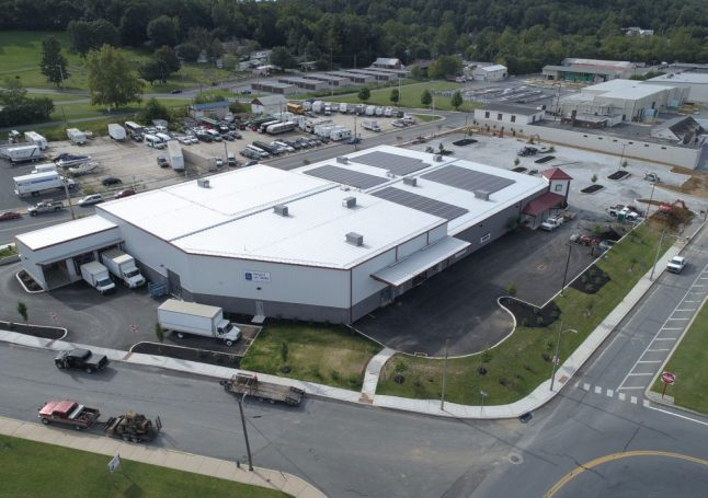 Arial view of Ephrata ReUzit on State, Retail and Warehouse Facility